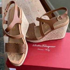 Salvatore Ferragamo Gioela Wedge Sandal 9.5